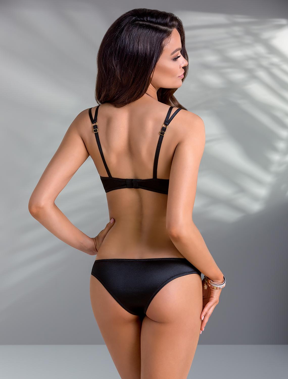 Body dentelle noir cuivré Mirella Casmir dos