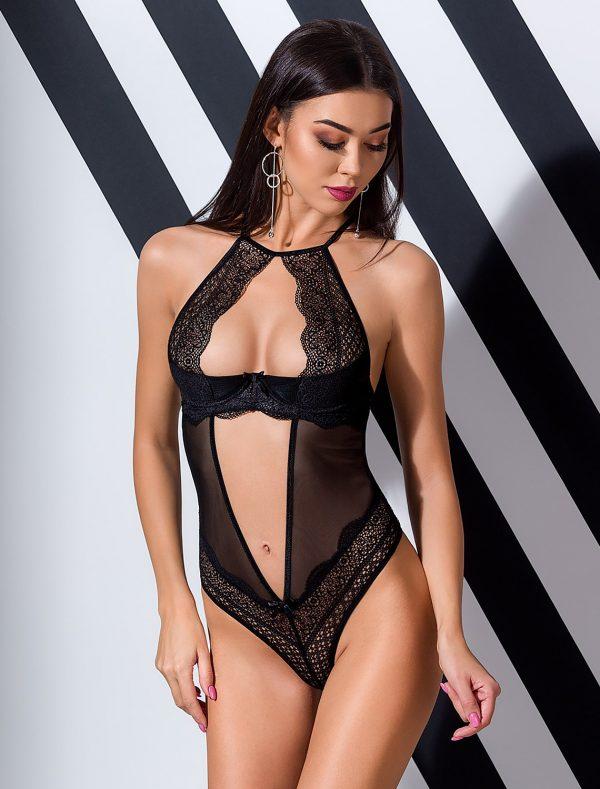 Body luxe dentelle noir Yona Passion