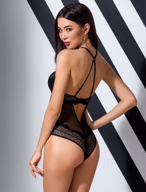 Body luxe dentelle noir Yona Passion dos