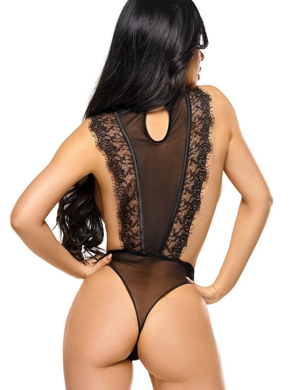 Body string noir Emiliana BN6563 Beauty Night dos