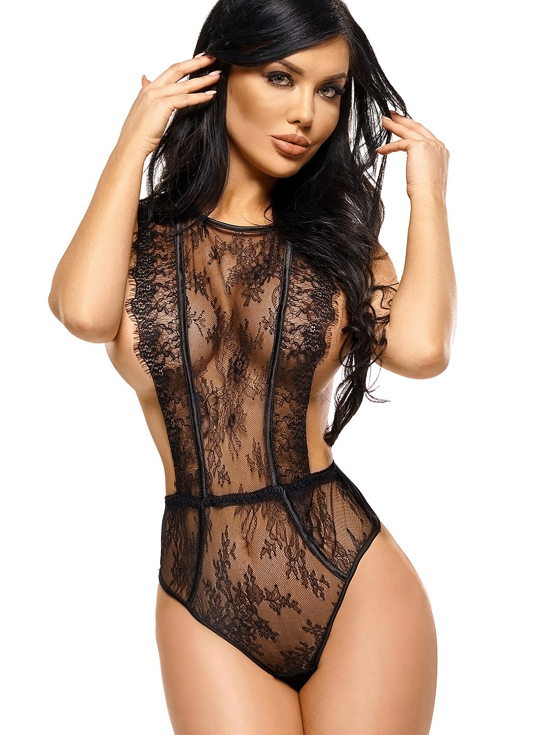 Body string noir Emiliana BN6563 Beauty Night
