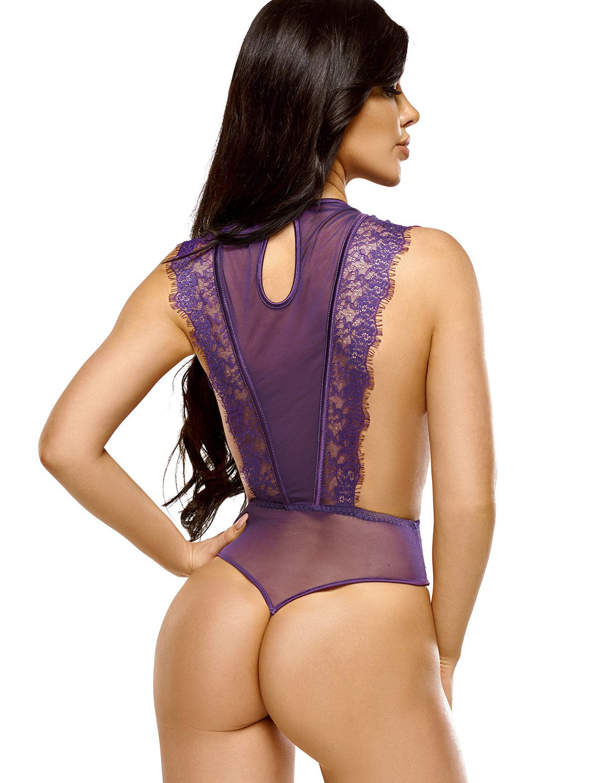Body string violet Emiliana BN6563 Beauty Night dos