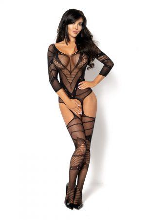 Bodystocking noir Esmeralda BN6590 Beauty Night
