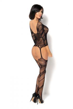 Bodystocking noir Esmeralda BN6590 Beauty Night dos