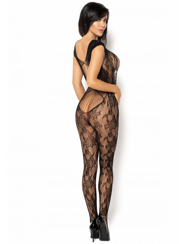 Bodystocking noir Kiara BN6591 Beauty Night coté