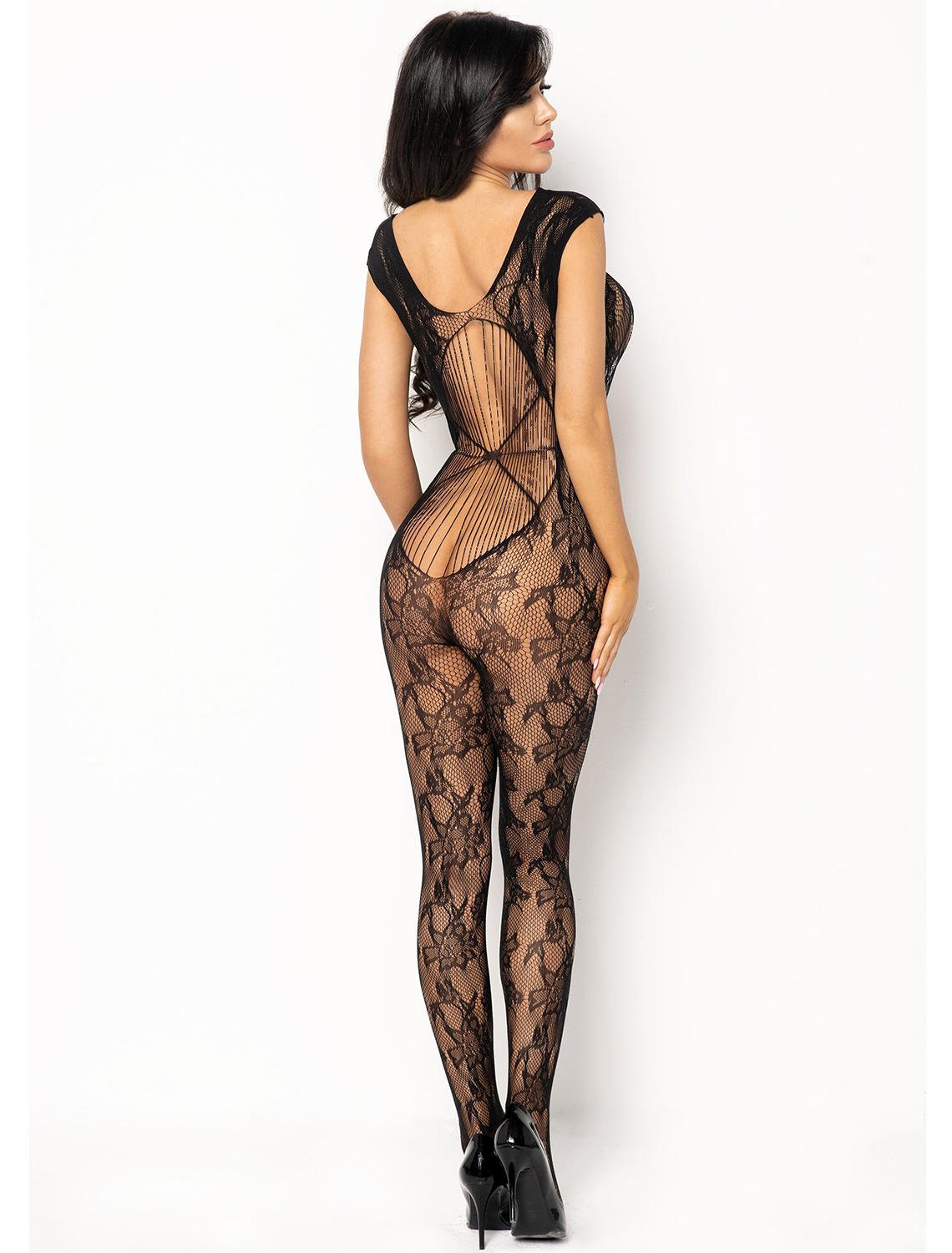 Bodystocking noir Kiara BN6591 Beauty Night dos