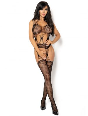 Bodystocking noir résille Maribel BN6585 Beauty Night