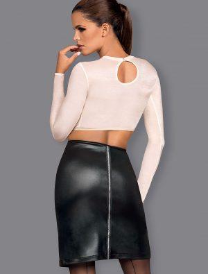 Déguisement noir et blanc Bossy Obsessive dos