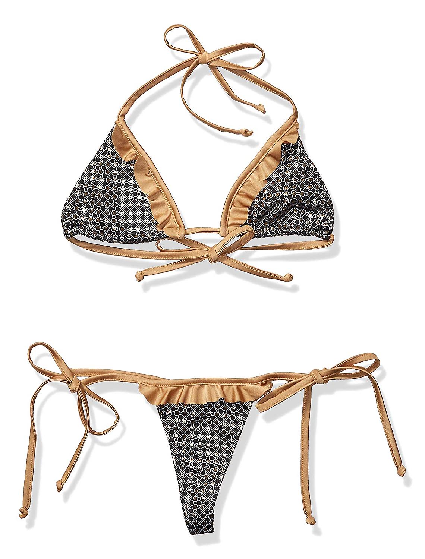 Maillot de bain bikini string noir or 6740 Mapale img1