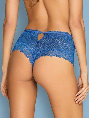 Shorty dentelle bleue Bluellia Obsessive dos