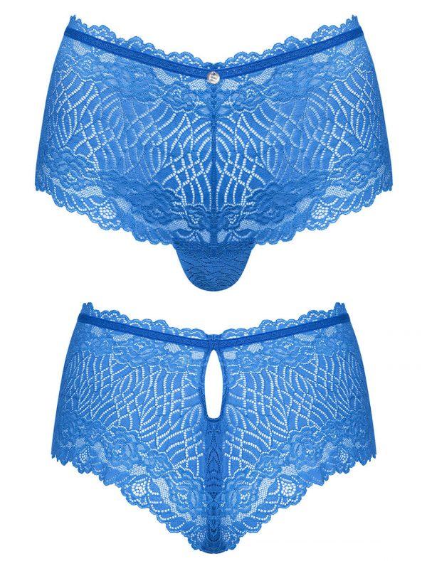 Shorty dentelle bleue Bluellia Obsessive img1
