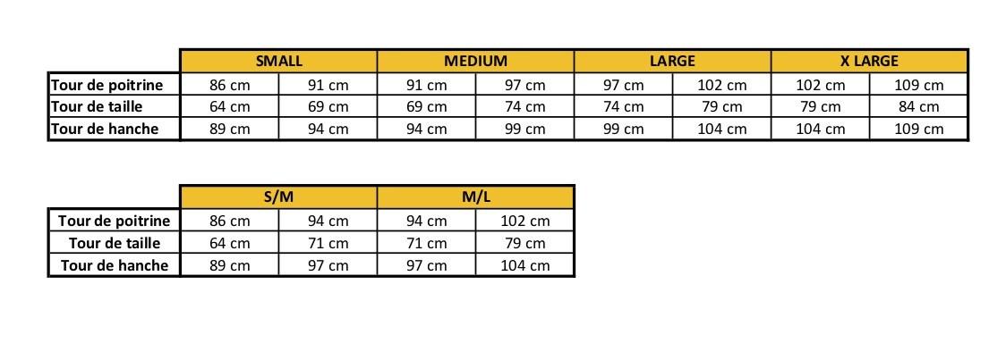 Guide des Tailles Mapalé