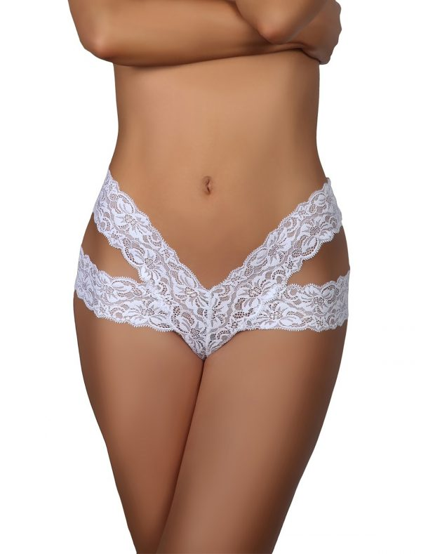 Tanga dentelle blanc Nancy Beauty Night