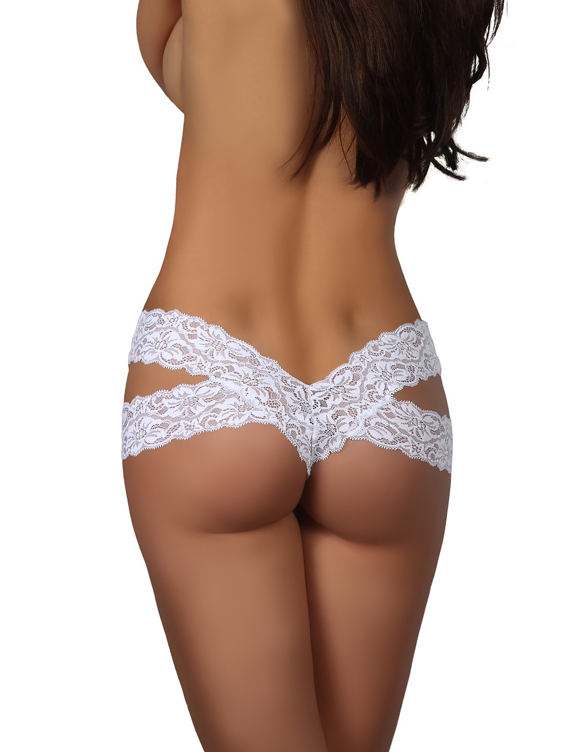 Tanga dentelle blanc Nancy Beauty Night dos
